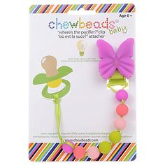 """chewbeads® Butterfly """"Where's the Pacifier?"""" Clip"""