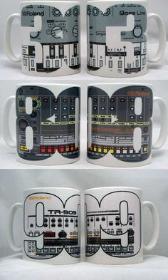 Mug featuring Roland TB303, TR808 or TR909 - product images