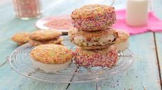 Look at this recipe - Confetti Cookie Ice Cream Sandwiches - from Sanjana Modha and other tasty dishes on Food Network.