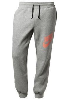 Nike Sportswear AW77 - Jogginghose - dark grey heather/bright mango - Zalando.de