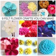 9 Felt Flower Crafts