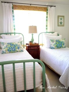 flea market trixie: Beach Cottage Twin Bedroom                                                                                                                                                      More