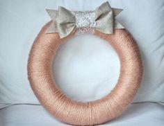 yarn wreaths by cranny @etsy