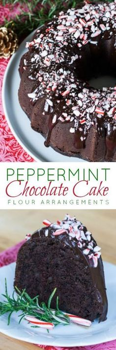 Deep and rich, this Peppermint Chocolate Cake gets a cool, refreshing burst from both peppermint extract and schnapps. Topped with peppermint ganache and crushed candy canes, it's a breathtaking holiday dessert.
