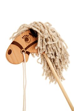 Wooden Stick Horse - Hobby Horse Toy for a Boy or a Girl - Waldorf Wood Toy Pony - A Perfect Gift for a Toddler or Preschooler