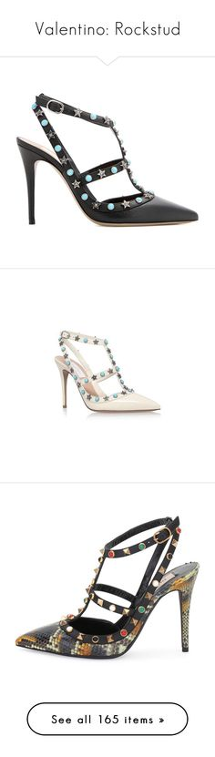 """Valentino: Rockstud"" by livnd ❤ liked on Polyvore featuring shoes, valentino, bags, collection, pumps, black leather pumps, leather shoes, genuine leather shoes, valentino shoes and kohl shoes"