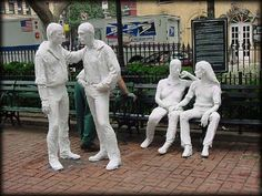 George Segal- Gay Liberation Monument - http://art-nerd.com/newyork/george-segal-gay-liberation-monument/