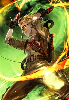 Really Awesome Video Game Concept Art. Die Geisterjäger, The Real Ghostbusters, Kate Mckinnon, Ghost Busters, Game Concept Art, Film Books, Illustration Girl, Spirit Animal, Good Movies