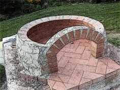 How to construct a pizza oven dome out of brick - Pinkbird