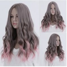 SHARE & Get it FREE | Fashion Long Fluffy Wavy Color Gradient Centre Part Women's Synthetic Party WigFor Fashion Lovers only:80,000+ Items • New Arrivals Daily • Affordable Casual to Chic for Every Occasion Join Sammydress: Get YOUR $50 NOW!