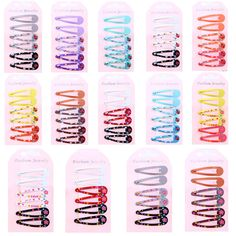 70pcs Girl Baby Kids Princess Hair Accessories Slides Snap Hair BB Clips Slid