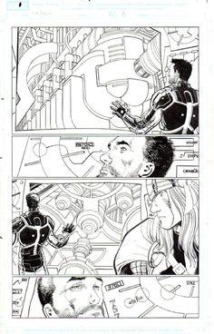 IRON MAN/THOR - JOHN ROMITA JR Comic Art