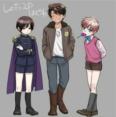 Aww Kuro, Allen, and Kid Oliver how cute were They Very Kawaii! 2p England, Hetalia England, Hetalia Anime, Hetalia Fanart, Hetalia Japan, 5 Anime, Anime Love, Anime Guys, 2p America