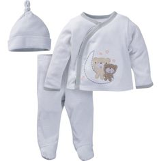 Gerber Newborn Baby Unisex Take-Me-Home Outfit Set, 3-Piece, Size: 0 - 3 Months, Brown