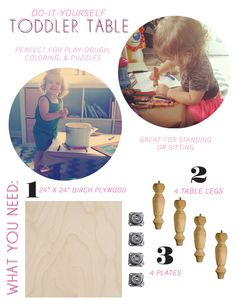 do it yourself toddler table