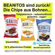 BEANITOS sind zurück! - Die Chips aus Bohnen ■ tiefglykämisch ■ ballaststoffreich ■ 14 % pflanzliches Protein ■ glutenfrei ■ vegan #Beanitos #Bohnenchips #ballaststoffreich #transfettfrei #glutenfrei #vegan #lowcarb #lowcarbs #lowcarbschweiz #fitness #fitnessschweiz #active12 #natural #Snacks #lowcarbsnack ►►► Bestellbar ab Lager Dulliken bei Olten hier: http://www.active12.ch/Ihr-Ziel---Stichwort-Abfrage/Glutenfreie-Produkte/BEANiTOS-Chipotle-BBQ-Black-Bean-Chips.html