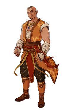 Male Elven Monk