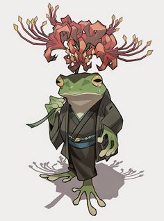 Drawing Unique Visit to a Grave by - Character Concept, Character Art, Concept Art, Character Illustration, Art And Illustration, Illustrations, Frog Art, Creature Concept, Character Design References