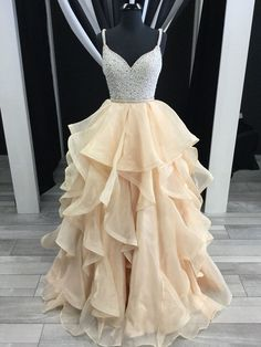 Charming Prom Dress, Sexy Prom Dresses, Crystal Beading