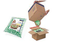 """#ColomPac® #Verpackungschips 15l im Beutel """"Flo-Bag"""" oder 45l im Karton """"Flo-Box"""". • Geeignet für den sicheren Schutz Ihrer Produkte.• #Dinkhauser Kartonagen Vertriebs GmbH, #Verpackungsmaterial"""