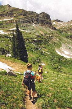 #hiking  #person  #people #woman #walking #down  woman walking down the hill at daytime