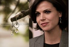 Once Upon a Time // Regina Mills earrings // Evil Queen // OutlawQueen // OUAT // Chainmail earrings //