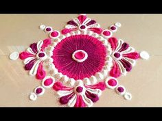 Rangoli Designs Latest, Simple Rangoli Designs Images, Rangoli Designs Flower, Rangoli Patterns, Rangoli Ideas, Colorful Rangoli Designs, Rangoli Designs Diwali, Diwali Rangoli, Henna Designs Easy