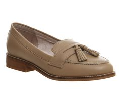 Office Lacey Fringe loafers Nude Leather - Flats