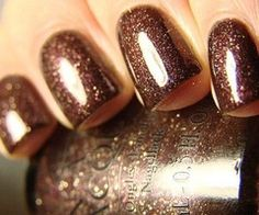 OPI Espresso - great Fall color! With gold glittery tips would be great!
