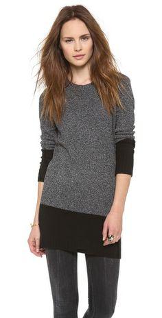 DKNY Crew Neck Sweater Tunic
