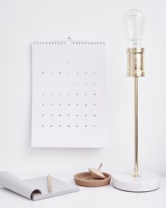 WEEKDAYCARNIVAL : Calendar 2016 | Giveaway | stylish chic minimalist stationary | classy home decor | organization |