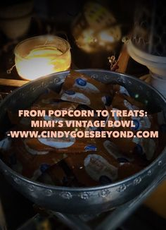 From Popcorn to Treats: Mimi's Vintage Bowl - Cindy Goes Beyond Vintage Aluminum Bowl Vintage Aluminum Bowl with Floral Border Vintage Stories Vintage Bowls, Porch Lighting, Floral Border, Popcorn, Treats, Sweet Like Candy, Goodies, Snacks, Sweets