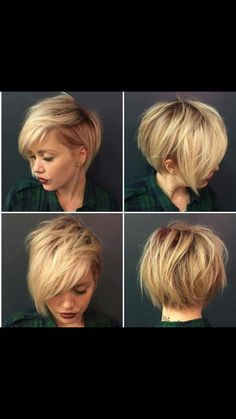 Short with side bangs textured