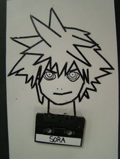 We created line drawings using old technology.. in this case cassette tapes.