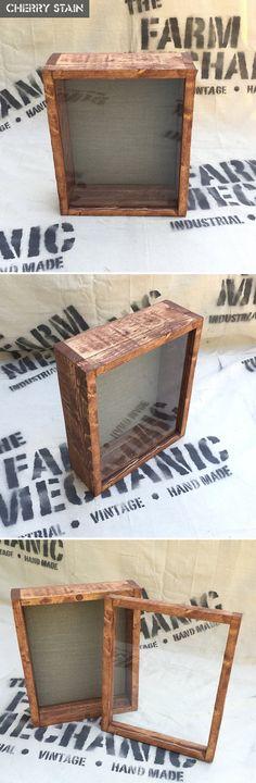 Rustic Shadow Box 11 W x 14 H x 3 D by TheFarmMechanic on Etsy