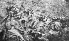 Dead French soldiers in the Argonne. Many soldiers developed a defensive callousness after seeing such sights frequently, and blotted these images out of their conscious minds for ever.