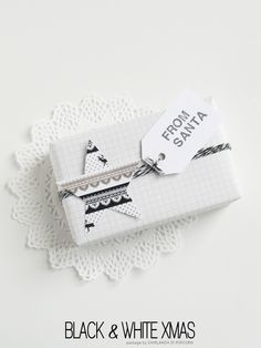 Ghirlanda di Popcorn: black & white Christmas
