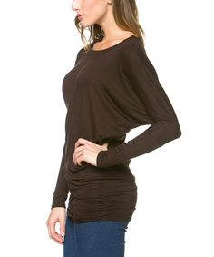 This Brown Dolman Top by Serene Blue is perfect! #zulilyfinds
