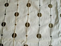 """HARLEQUIN EMBROIDERED FABRIC REMNANT """"STRING OF PEARL"""" 145 X 145 CM COTTON BLEND #Harlequin Harlequin Fabrics, String Of Pearls, Fabric Remnants, Lampshades, Cushions, Cotton, Jewelry, Throw Pillows, Lamp Shades"""
