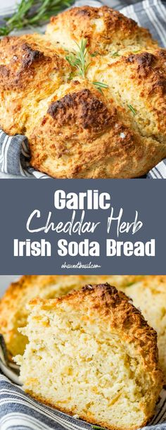 Irish Bread, Irish Soda Bread Recipe, Irish Desserts, Vegetarian Recipes, Cooking Recipes, Whole30 Recipes, British Baking, Quick Bread Recipes, Fresh Herbs