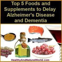 Top 5 Foods and Supplements to Delay Alzheimer's Disease and Dementia INTERESTED IN WELLNESS, FITNESS, HEALTH, BEAUTY and Living a SUCCESSFUL LIFE? FOLLOW my BLOG!  INTERESSIERT AN WELLNESS, FITNESS, GESUNDHEIT, SCHÖNHEIT und an einem ERFOLGREICHEN LEBEN? FOLGE meinem BLOG!  T'INTERESSA il BENESSERE, FITNESS, la SALUTE, BELLEZZA e vivere una VITA PIENA DI SUCCESSO? SEGUI il mio BLOG! >>>  http://wp.me/3SDCC