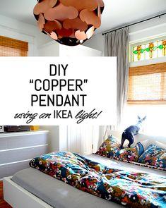 DIY Copper Pendant Using an IKEA Light!
