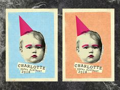 Charlotte:   A couple of birthday card color options for my sweet niece Charlotte.
