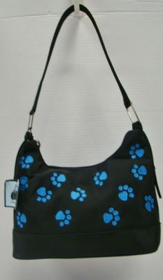 Blue Paw Print Purse 96