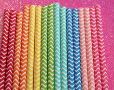 50 Rainbow Chevron Straws, Stripe Straws, Wedding Straws, Rainbow Party, via Etsy Rainbow Loom Party, Rainbow Parties, Rainbow Birthday Party, Rainbow Theme, Birthday Fun, Birthday Ideas, Chevron Paper, Rainbow Chevron
