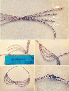 DIY Peter Pan chain necklace