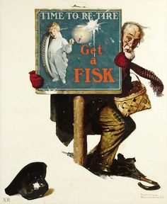 1925 ... Time To Retire! - Norman Rockwell   copyright - est…   Flickr