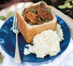 Lamb bunny chow recipe Lamb bunny chow is a South African favourite and perfect for making on a camping trip. Try this delicious lamb bunny chow recipe on your next adventure (or at home).