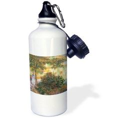 3dRose Camille in the Garden of the House in Argenteuil by Claude Monet, Sports Water Bottle, 21oz