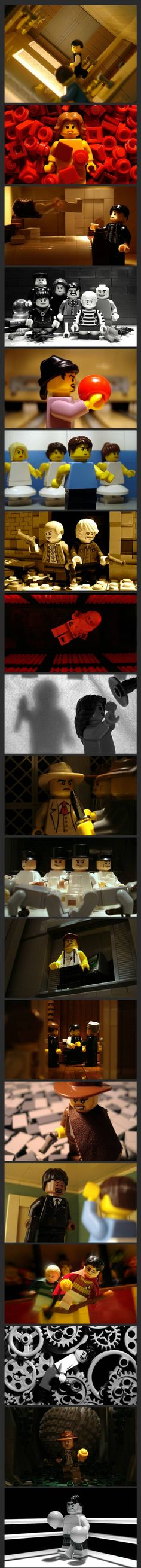 Lego movie scenes SO CUTE! Love the Inception and Psycho ones the best, so awesome!